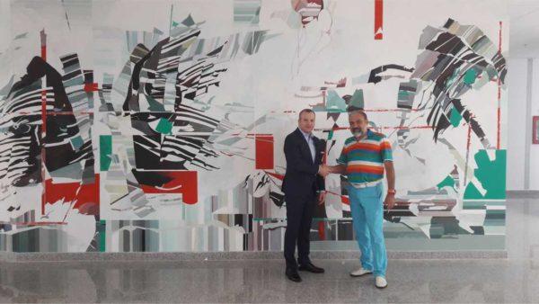 Lucrare de artă murală donată către Primăria municipiului Galați