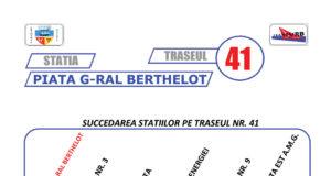 Traseul 41 – Staţii şi program – Transurb Galaţi