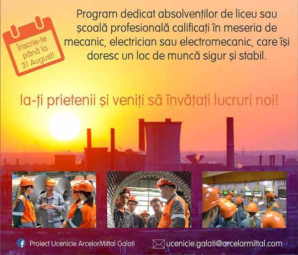 ucenicie arcelor mittal