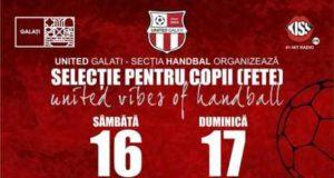 HANDBAL - CS United Galați caută viitoare campioane