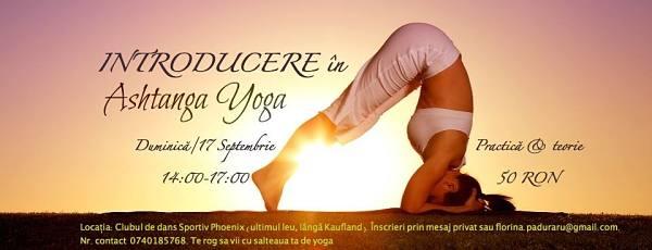 Introducere în Ashtanga Yoga la Clubul de Dans Sportiv Phoenix Galaţi