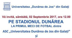 Primul meci de fotbal al ASC UDJG