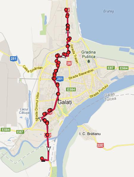 Traseul 17 – Staţii şi program – Transurb Galaţi