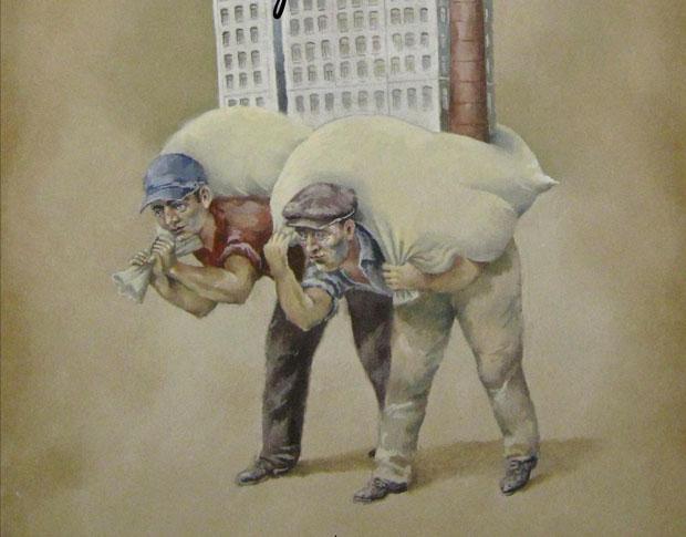 Expoziţie-tandem de grafică satirică, pe tema