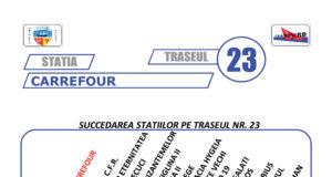 Traseul 23 – Staţii şi program – Transurb Galaţi