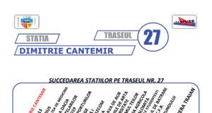 Traseul 27 – Staţii şi program – Transurb Galaţi