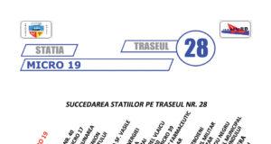 Traseul 28 – Staţii şi program – Transurb Galaţi
