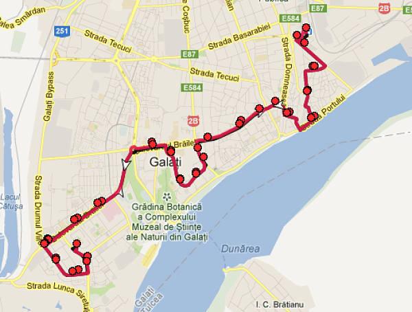 Traseul 29 – Staţii şi program – Transurb Galaţi