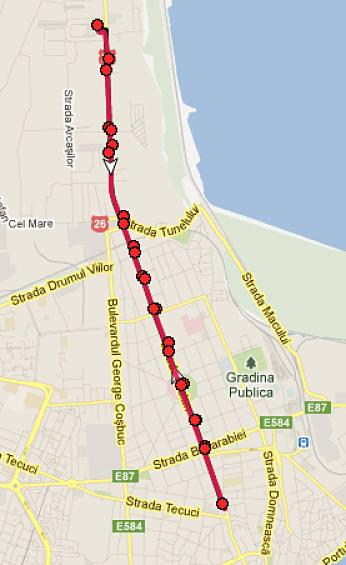 Traseul 35 – Staţii şi program – Transurb Galaţi