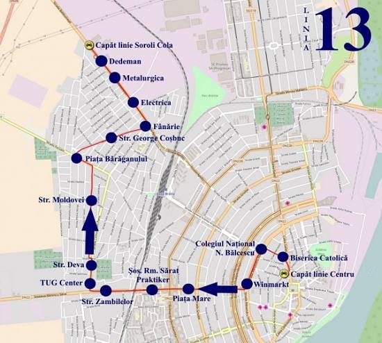 Traseul 13 Centru - Soroli – Staţii şi program – Braicar Brăila