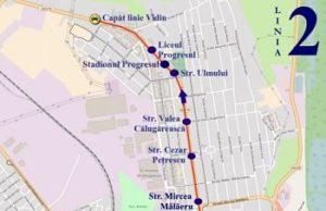 Traseul 2 Vidin - Hipodrom – Staţii şi program – Braicar Brăila