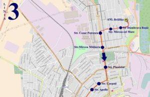 Traseul 3 ANL Brăiliţa – Brăila Mall - Staţii şi program – Braicar Brăila