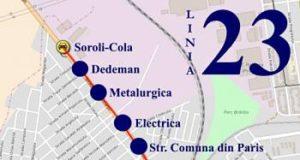 Traseul 23 Soroli - Catedrală – Staţii şi program – Braicar Brăila