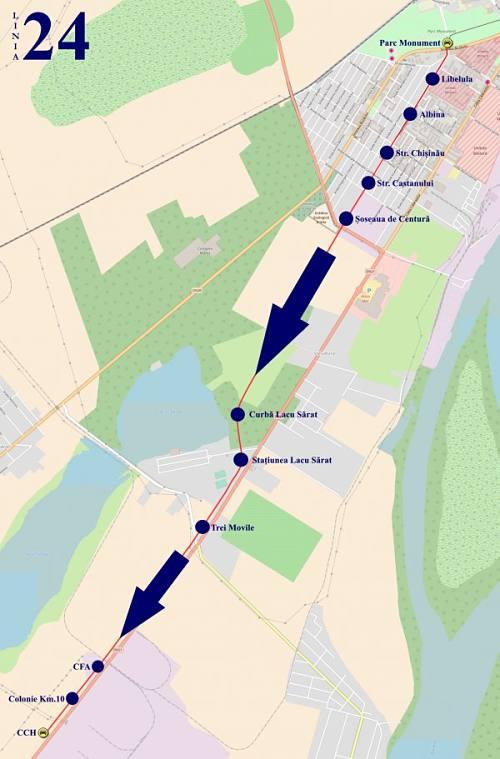 Traseul 24 Parc Monument – Combinat – Staţii şi program – Braicar Brăila