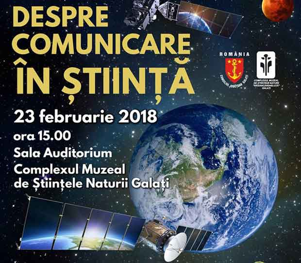 """Conferinţă - """"Despre comunicare în ştiinţă"""""""
