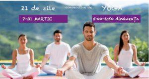 21 zile de practică Yoga acum și pentru începărtori. Rezervă-ți locul!