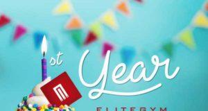 EliteGym Brăila împlinește 1 an - Vino și tu la petrecere!