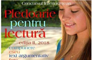 """Concursului regional """"Pledoarie pentru lectură"""" pentru elevi ai claselor II-XII"""