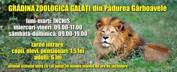 Grădina Zoologică Galați prezintă programul de vară și regulile de vizitare