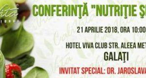 Conferință Nutriție și Sănătate la Galați cu Dr. Jaroslava Somborac