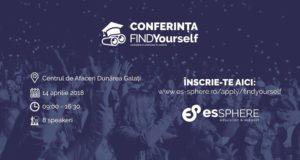Conferința FindYourself la cea de-a treia ediție a proiectului - Centrul de Afaceri Dunărea Galați