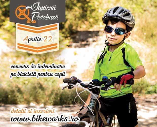 Juniorii Pedalează - concurs de îndemânare pe bicicletă pentru copii