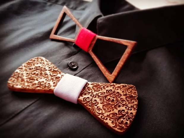 LUMBER reinventează accesoriul vestimentar - papioane din lemn cu stil