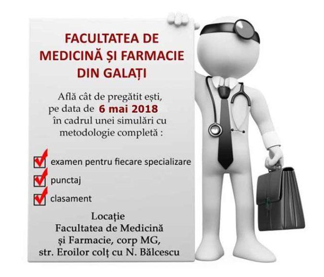 Simularea Examenului de Admitere la Facultatea de Medicină și Farmacie din Galați