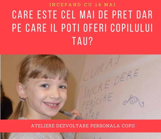 atelier de dezvoltare personală pentru copii - cabinet psiholog sanda docan