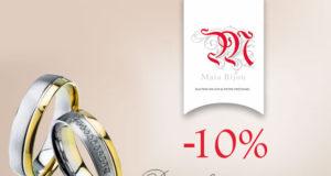 Primul dar de nuntă de la Maia Bijou - 10% DISCOUNT la verighete din aur