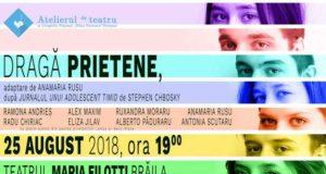 """Dragă prietene - spectacol în cadrul Festivalului de Teatru """"Bujor Macrin"""" de la Brăila"""