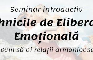 Introducere în EFT (Tehnicile de Eliberare Emoțională) cu Nicoleta Nistor