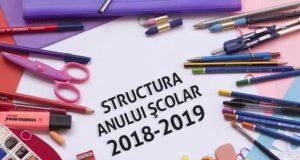 Structura anului şcolar2018-2019 - cursurile încep luni, 10 septembrie