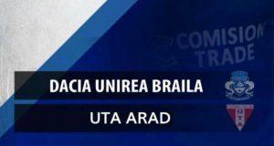 Dacia Unirea Brăila joacă acasă împotriva celor de la UTA Arad pe 18 August