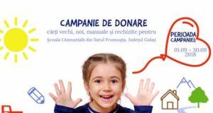 Donează o carte pentru biblioteca şcolară din Satul Frumuşița!
