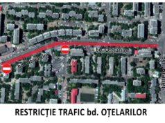 Restricții de trafic pe bulevardul Oțelarilor în timpul asfaltării
