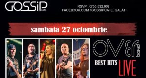 Over Band Best Hits Live in Gossip Cafe pe 27 octombrie