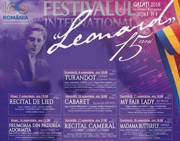 Festivalul Internațional Leonard își deschide porțile pe 4 noiembrie. Vezi aici programul