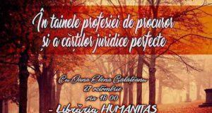 Prelegere la Librăria Humanitas - În tainele profesiei de procuror și a cărților juridice perfecte