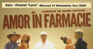 """Amor în farmacie - o comedie-farsă la Palatul """"Lyra"""" Brăila"""