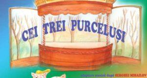 Cei trei purceluși se joacă pe 8 și 9 noiembrie la Teatrul Gulliver