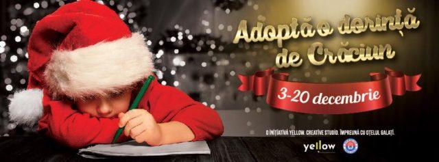 Adoptă o dorință de Crăciun, împreună cu Yellow și Oțelul Galați