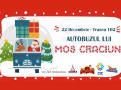 Autobuzul lui Moş Crăciun se reîntoarce pe străzile Galaţiului