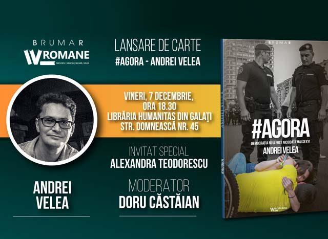 Lansare de carte: Agora. Democrația nu a fost niciodată mai sexy!