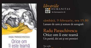Radu Paraschivescu lansează la Galați volumul: Orice om îi este teamă
