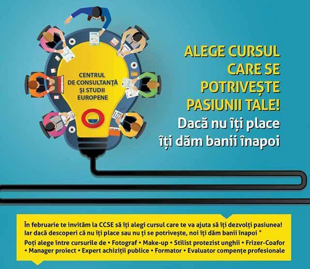 Te invităm la CCSE să îți alegi cursul care te va ajuta să îți dezvolți pasiunea