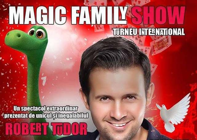 Magic Family Show cu magicianul Robert Tudor, pe 23 martie