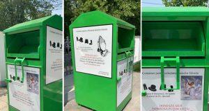A apărut primul container pentru colectarea de haine folosite în Galați