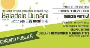 Festivalul Național Studențesc de Muzică Folk Baladele Dunării la Galați