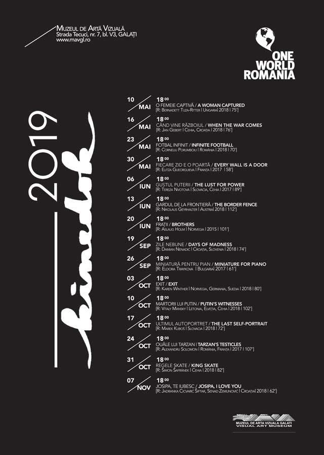 Programul unui nou sezon KineDok la Muzeul de Artă Vizuală Galaţi